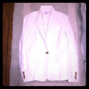 White linen blazer jacket